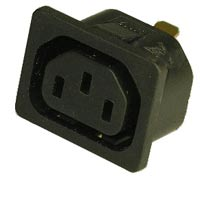 Snap in IEC C13 outlet ref: 796R